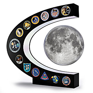apollo missions illuminated levitating moon sculpture -#main
