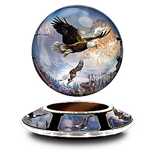 Ted Blaylock Levitating Globe Eagle Sculpture