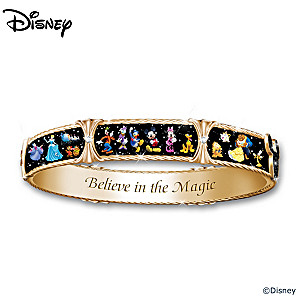 """Ultimate Disney Bracelet"" With Character Art And Crystals"
