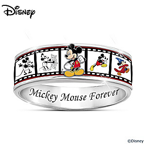 "Disney ""Mickey Mouse Forever"" Women's Spinning Ring"