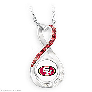 """""""San Francisco 49ers Forever"""" Infinity Pendant Necklace"""