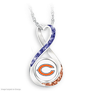 """Chicago Bears Forever"" Infinity Pendant Necklace"