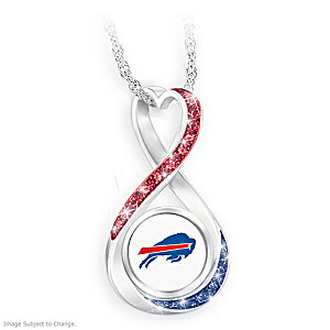 """Buffalo Bills Forever"" Infinity Pendant Necklace"