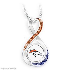"""Denver Broncos Forever"" Infinity Pendant Necklace"