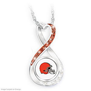 """Cleveland Browns Forever"" Infinity Pendant Necklace"
