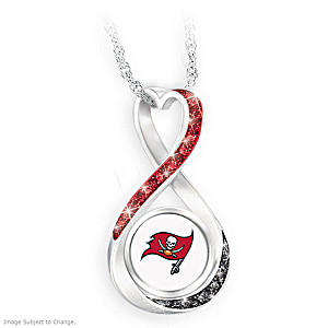 """Tampa Bay Buccaneers Forever"" Infinity Pendant Necklace"