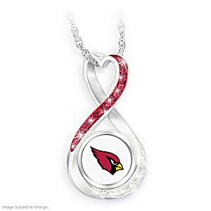 """Arizona Cardinals Forever"" Infinity Pendant Necklace"