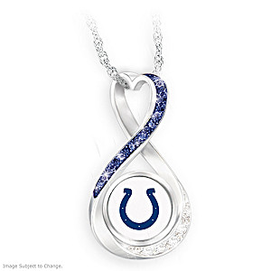 """Indianapolis Colts Forever"" Infinity Pendant Necklace"