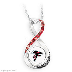 """Atlanta Falcons Forever"" Infinity Pendant Necklace"