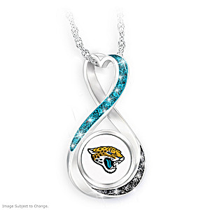 """Jacksonville Jaguars Forever"" Infinity Pendant Necklace"