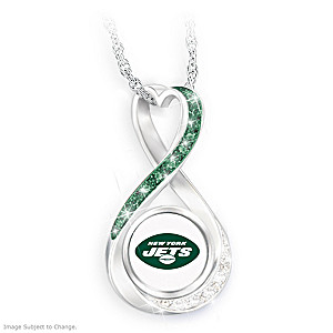 """New York Jets Forever"" Infinity Pendant Necklace"