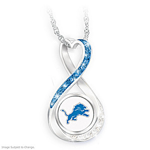 """Detroit Lions Forever"" Infinity Pendant Necklace"