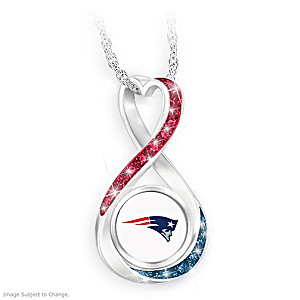 """New England Patriots Forever"" Infinity Pendant Necklace"