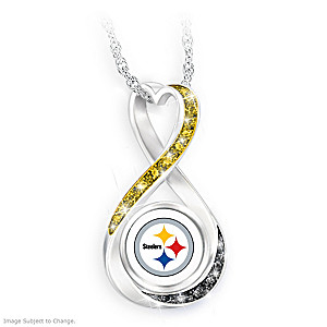 """Pittsburgh Steelers Forever"" Infinity Pendant Necklace"