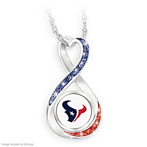 """""""Houston Texans Forever"""" Infinity Pendant Necklace"""