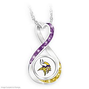 """Minnesota Vikings Forever"" Infinity Pendant Necklace"