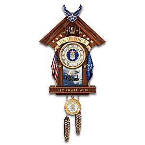 """""""Aim High"""" Wall Clock With Ken Chandler F-15 Art"""