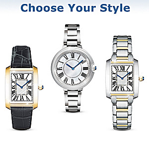 """""""Royal Legacy"""" Women's Designer-Style Watch In Three Styles"""
