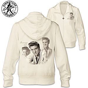 "Elvis ""Burning Love"" Women's Designer-Style Hoodie"