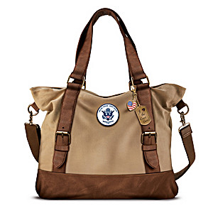 Armed Forces U.S. Coast Guard Women's Canvas Handbag
