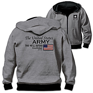 U.S. Army Men's Reversible 2-In-1 Hoodie