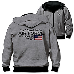 U.S. Air Force Men's Reversible 2-In-1 Hoodie