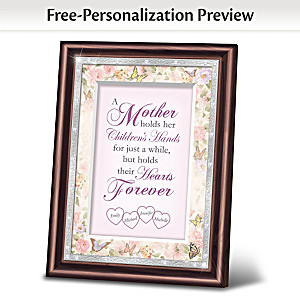 """A Mother's Love"" Personalized Heirloom Frame"