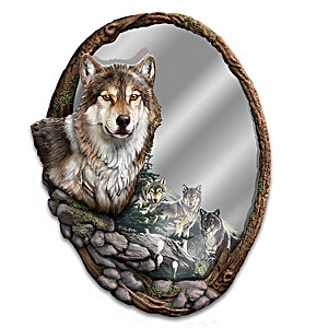 "Al Agnew ""Reflections Of Nature"" Sculpted Wall Mirror"