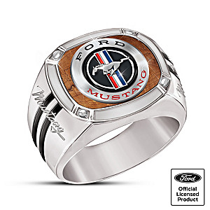Ford Mustang: An American Classic Men's Stainless Steel Ring