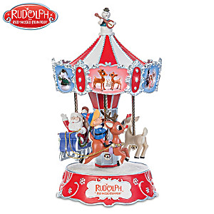 Rudolph The Red-Nosed Reindeer Revolving Musical Carousel