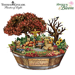 Thomas Kinkade Autumn Wishes Garden Sculpture