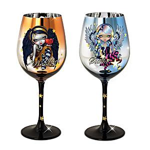 Jasmine Becket-Griffith Fairy Art Wine Glasses: Set Of 2