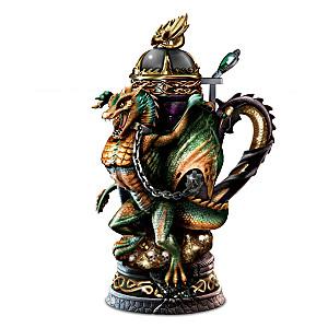 """""""Dragon's Wrath"""" Heirloom Porcelain Masterpiece Stein"""