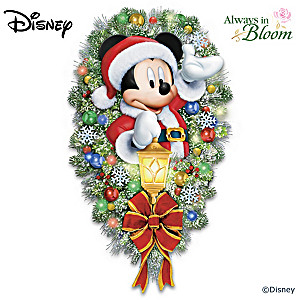 Disney A Very Merry Mickey Welcome Illuminated Wreath