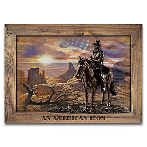 """John Wayne: An American Icon"" Cold-Cast Bronze Wall Decor"