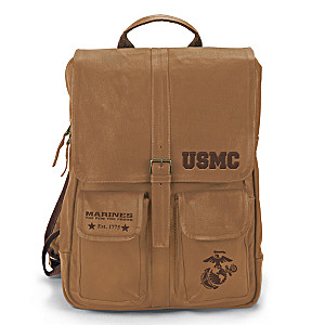U.S. Marine Corps Genuine Leather Backpack