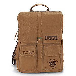 U.S. Coast Guard Genuine Leather Backpack