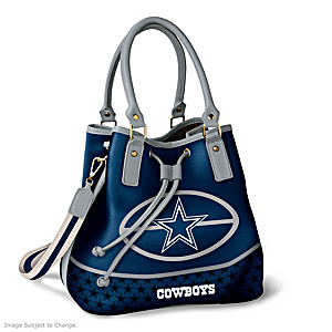 Dallas Cowboys Bucket Handbag With Team Logo
