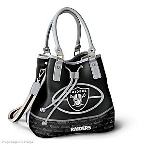 Las Vegas Raiders Bucket Handbag With Team Logo