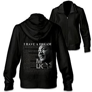 "MLK ""I Have A Dream"" Women's Front Zip Hoodie"