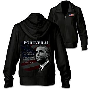 "Barack Obama ""Forever 44"" Commemorative Women's Hoodie"
