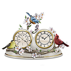 """Nature's Timeless Moments"" Clock And Weather Barometer"