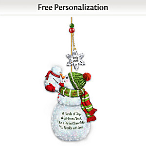 Baby's First Christmas Personalized Snowman Ornament