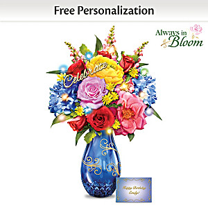 """Celebration"" Lighted Bouquet With Personalized Card"