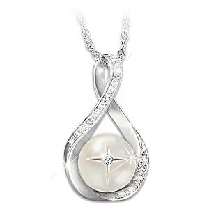 """God's Pearl Of Wisdom"" Diamond Pendant Necklace"
