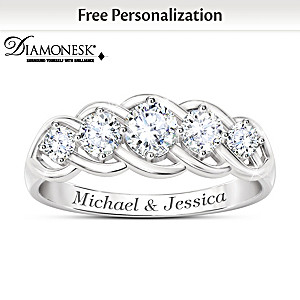"""Love Of A Lifetime"" Diamonesk Personalized Anniversary Ring"