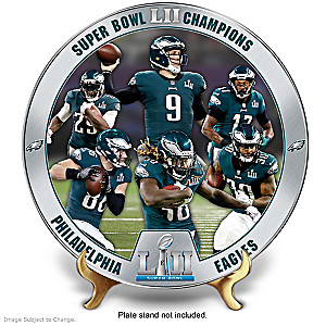 Eagles Super Bowl LII Champions Porcelain Collector Plate