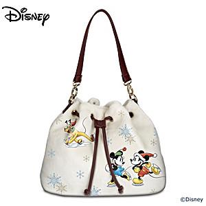 "Disney ""Winter Wonderland"" Women's Fleece Fashion Handbag"