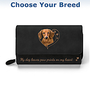 """Paw Prints On My Heart"" Women's Trifold Wallet"
