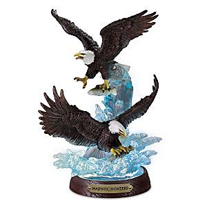 """Majestic Hunters"" Illuminated Eagle Sculpture"